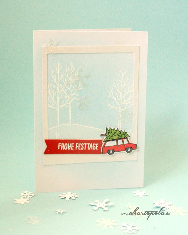 weihnachtskarte-rotes-auto-dawanda
